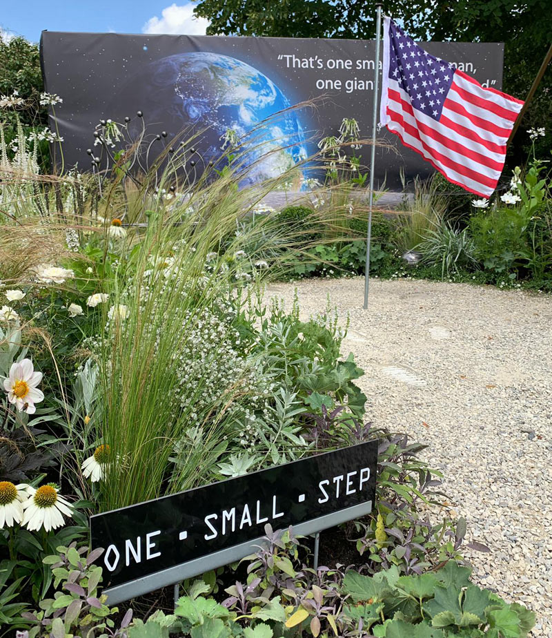 One Small Step garden at Taunton Flower Show 2019